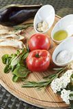 Fresh cooking ingredients Royalty Free Stock Photography
