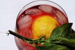 Fresh, cool glass of campari stock photos