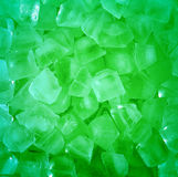 Fresh cool  green ice cube background Royalty Free Stock Photo