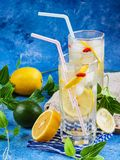 Fresh cool lemon juice for hot summer Royalty Free Stock Images