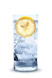 Fresh cool water with ice and lemon Royalty Free Stock Photography