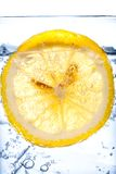 Fresh cool water with ice and lemon Stock Photography