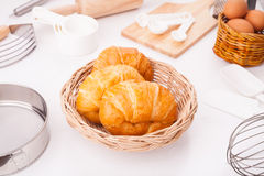 Fresh corissant Stock Images