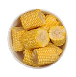 Fresh corn in bowl Stock Photography