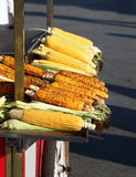 Fresh Corn on the Cob in Istanbul Royalty Free Stock Photos