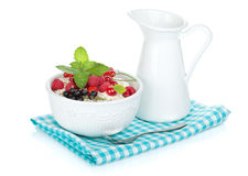 Fresh corn flakes with berries Royalty Free Stock Photography