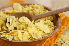 Fresh corn flakes in bowl Stock Photo