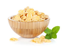 Fresh corn flakes in bowl Stock Photo
