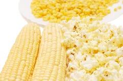 Fresh corn, preserved corn Royalty Free Stock Photos