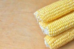 Fresh corn on the table Royalty Free Stock Photos