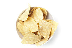 Fresh corn tortilla chips Stock Photography