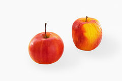 Fresh and corrugated apples Royalty Free Stock Images
