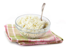 Fresh cottage cheese Stock Images