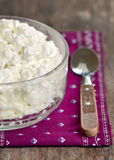 Fresh Cottage Cheese Stock Photos