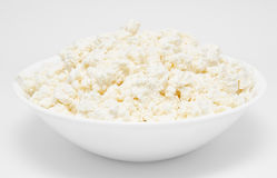 Fresh cottage cheese in the bowl  Stock Photo