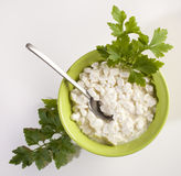 Fresh cottage cheese Royalty Free Stock Image