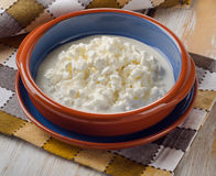 Fresh Cottage cheese Stock Image