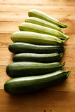 Fresh courgettes from the garden.  Stock Photos