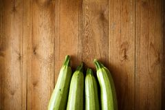 Fresh courgettes from the garden.  Royalty Free Stock Image