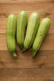 Fresh courgettes from the garden Royalty Free Stock Photography