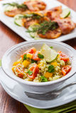 Fresh couscous salad for summer Stock Photography