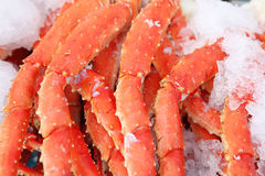 Fresh crab legs Royalty Free Stock Photography