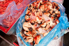 Fresh crabs Royalty Free Stock Images