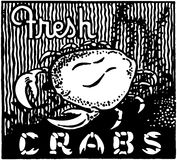 Fresh Crabs Stock Photography