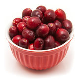 Fresh cranberries in a bowl Royalty Free Stock Photography