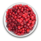 Fresh cranberries on a plate Stock Images