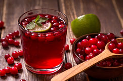 Fresh cranberry drink Stock Photo
