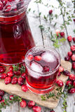 Fresh Cranberry Juice Royalty Free Stock Photo