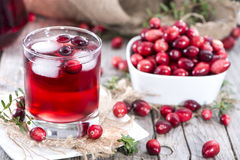 Fresh Cranberry Juice Royalty Free Stock Photography