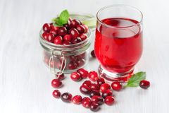 Fresh cranberry juice. Stock Photos