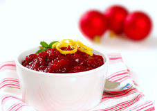 Fresh cranberry sauce Stock Images