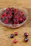 Fresh Cranberry Sauce Royalty Free Stock Images