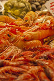 Fresh crawfish in a market stall Stock Photo