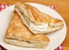 Fresh Cream Apple Turnover Pastries Stock Images