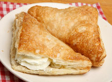 Fresh Cream Apple Turnovers Stock Photography