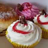 Fresh Cream Cakes Stock Photo
