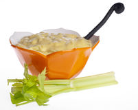 Fresh Cream of Celery Soup Stock Photos