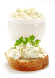 Fresh cream cheese Stock Photo