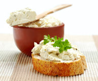 Fresh cream cheese Royalty Free Stock Photography