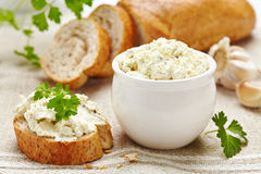 Fresh cream cheese Stock Photography