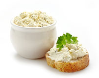 Fresh cream cheese Stock Images