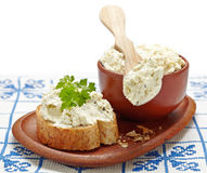Fresh cream cheese Royalty Free Stock Images