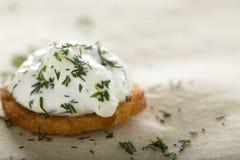 Fresh cream cheese spread Stock Image