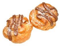 Fresh Cream Choux Pastry Buns Stock Photos
