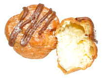 Fresh Cream Choux Pastry Buns Royalty Free Stock Image
