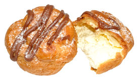 Fresh Cream Choux Pastry Buns Stock Photo